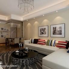 精美98平米三居客厅现代装饰图片