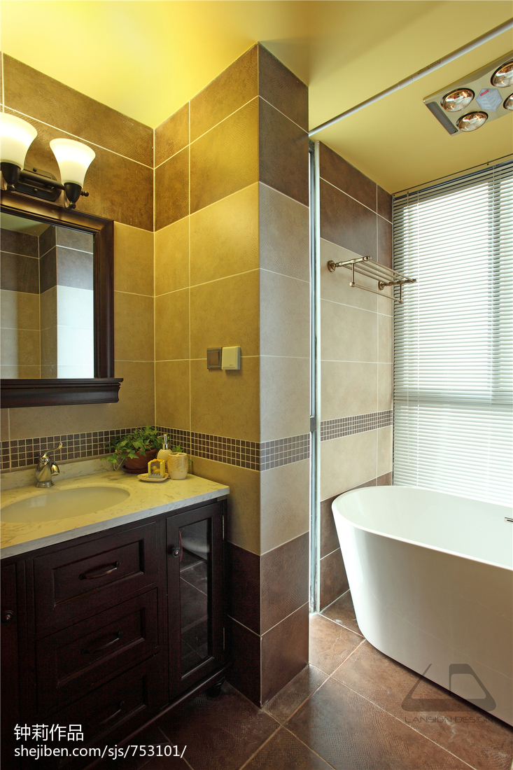 精选面积141平复式卫生间混搭实景图片