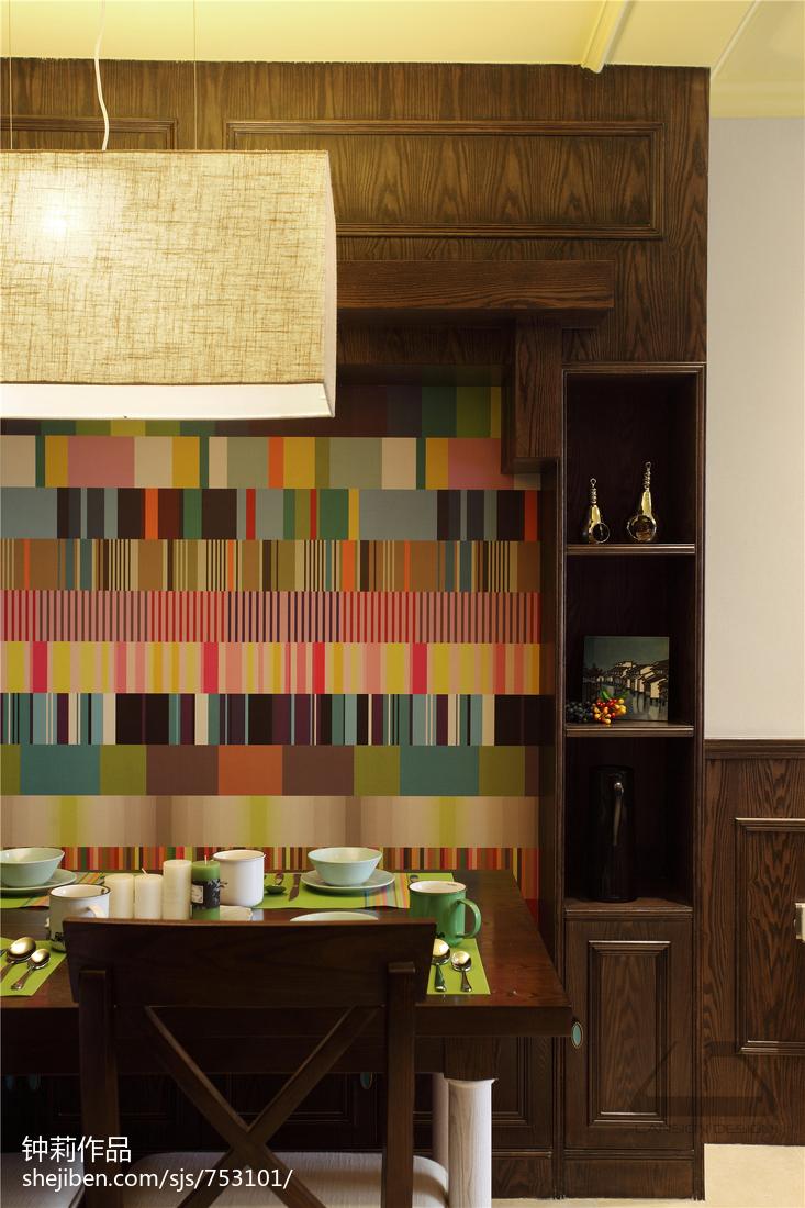 热门118平米混搭复式餐厅装修图