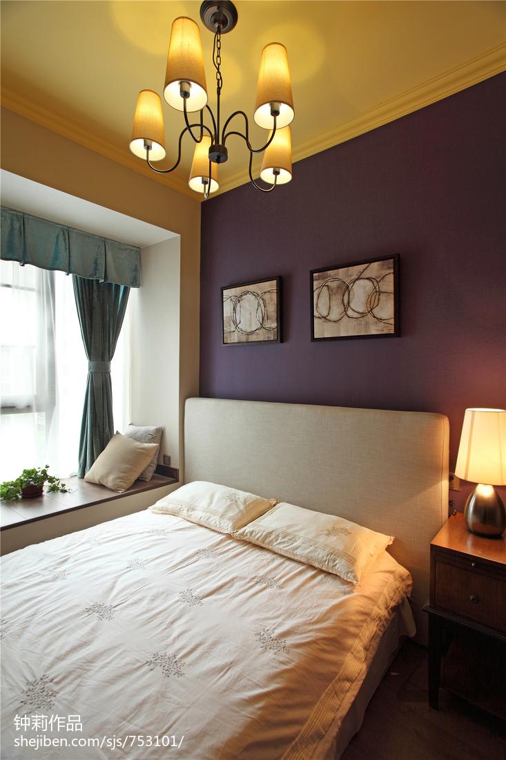 面积111平复式卧室混搭装修效果图片
