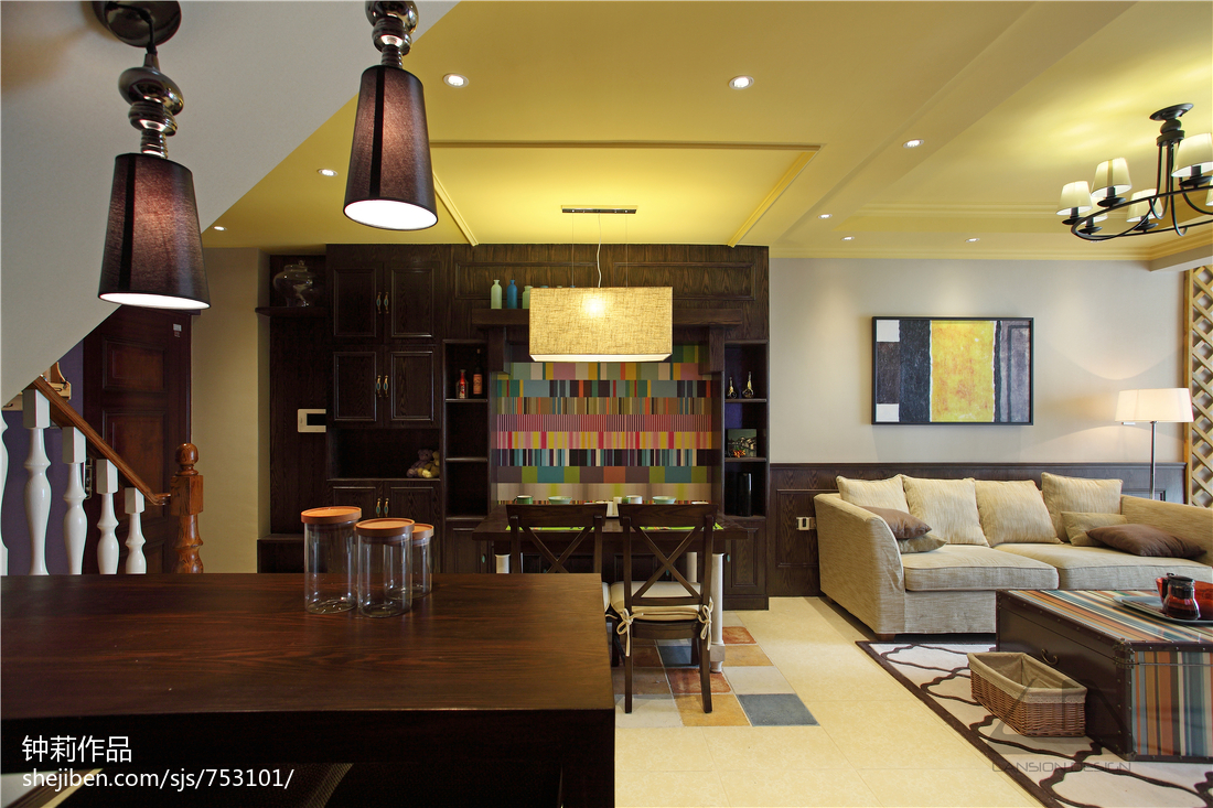 精选135平米混搭复式客厅效果图片