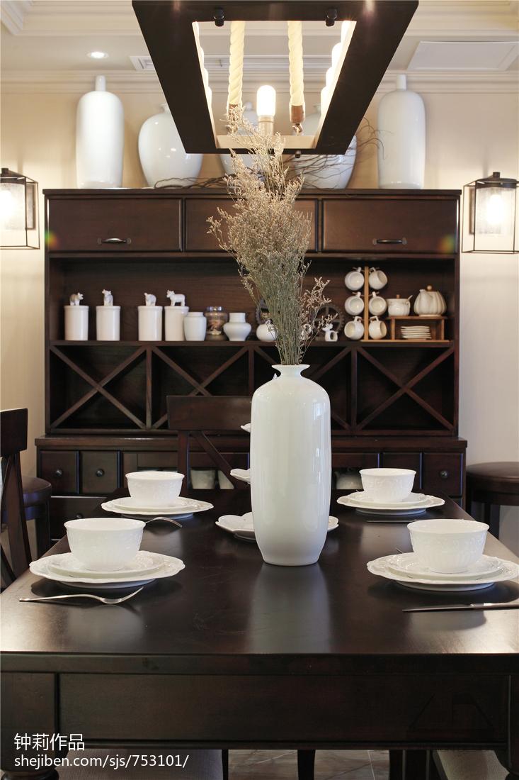 精美美式复式餐厅装修欣赏图片大全