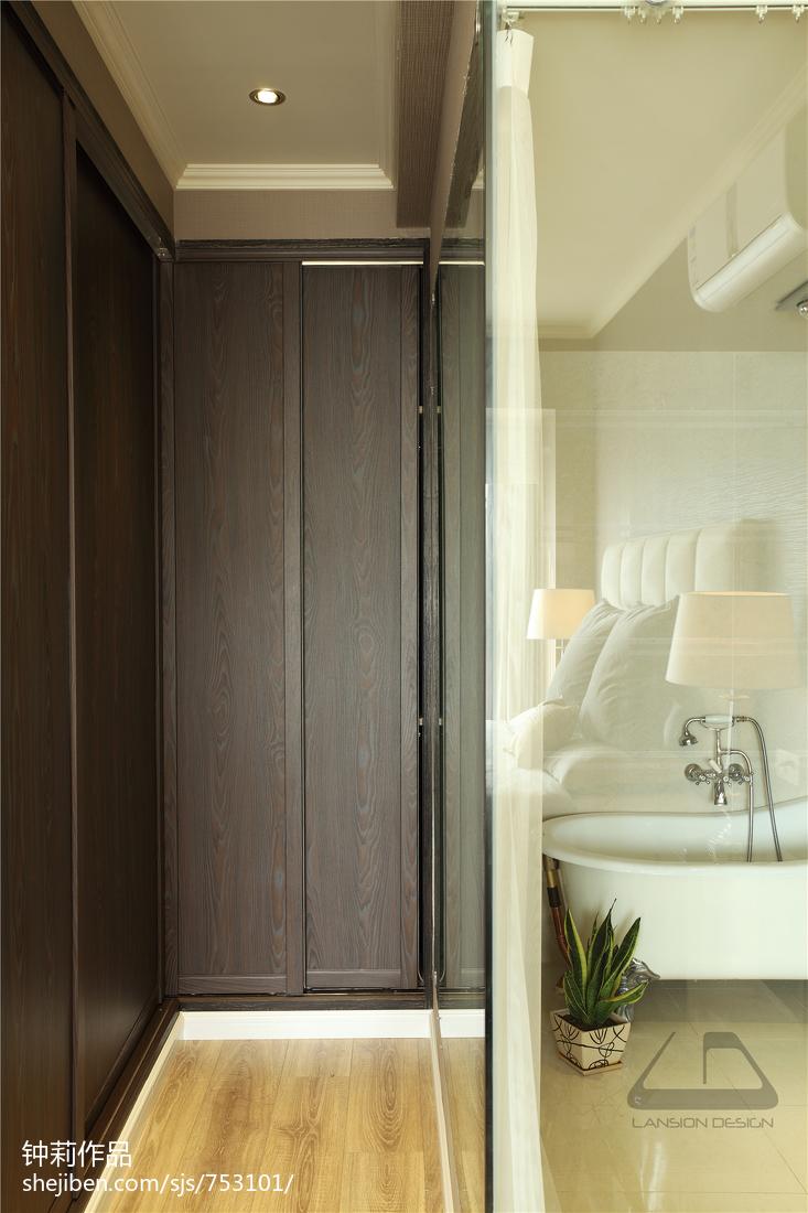 精美现代四居卫生间装修设计效果图