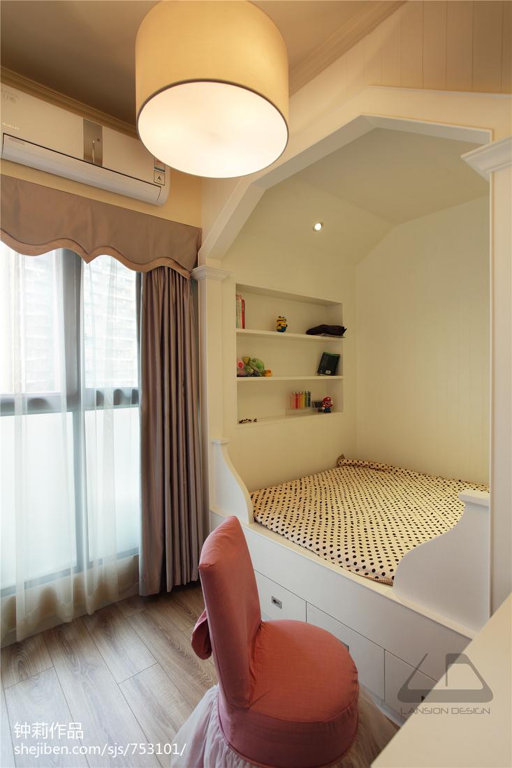 温馨105平现代四居装潢图