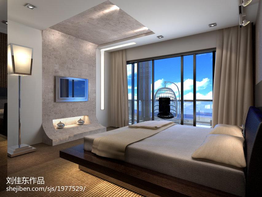 精选130平米现代别墅卧室装修效果图
