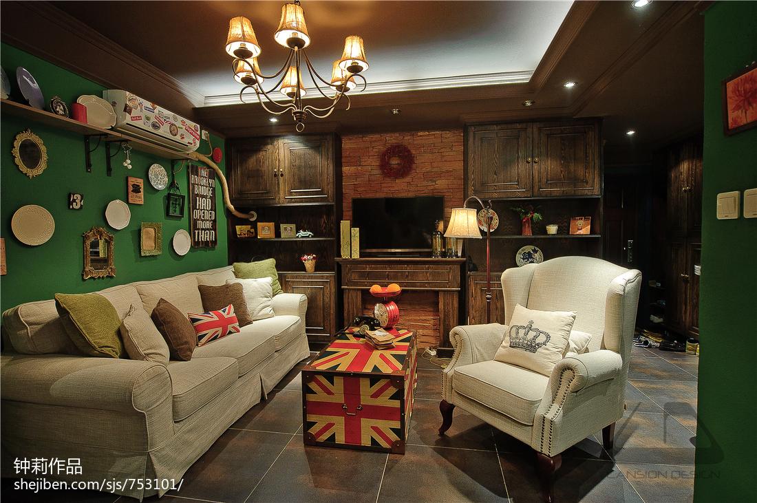 热门89平方二居客厅混搭装修设计效果图