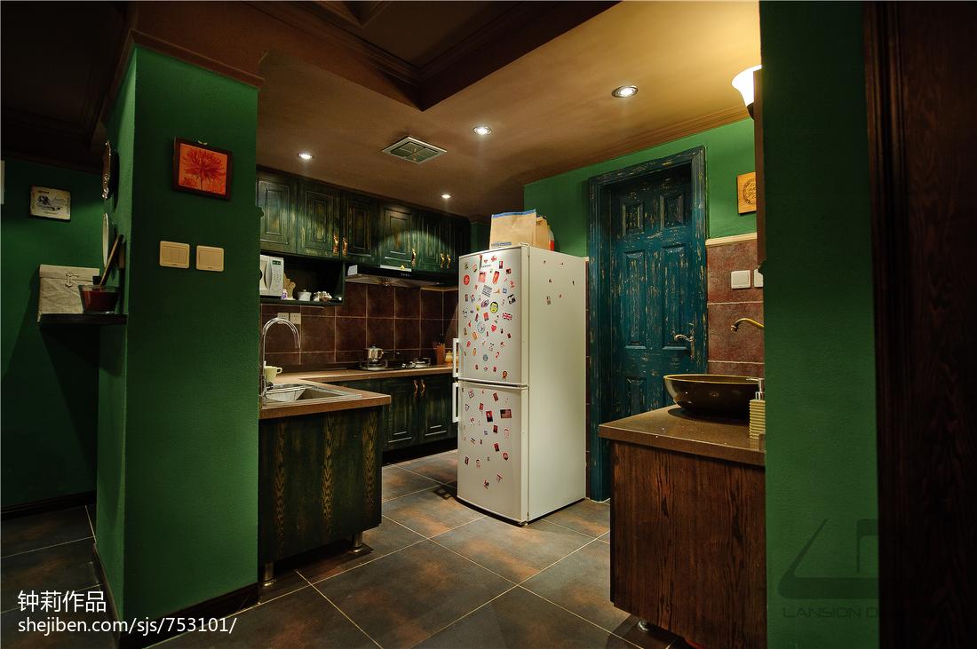 热门86平米二居厨房混搭实景图片大全