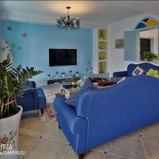 精美地中海复式客厅装饰图片大全