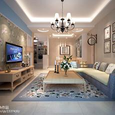 精选大小75平现代二居客厅装修图