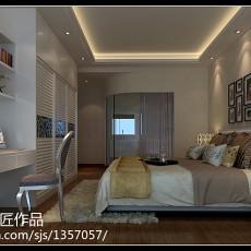108平米三居卧室现代实景图片