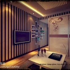 精美90平米现代小户型客厅欣赏图片