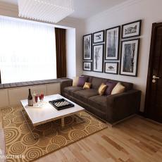 精选86平方二居客厅现代装修实景图片