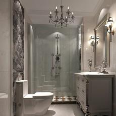 精选面积113平别墅卫生间美式实景图