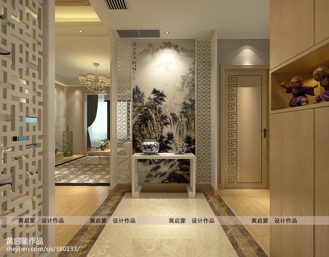 中式古典进门玄关装修效果图