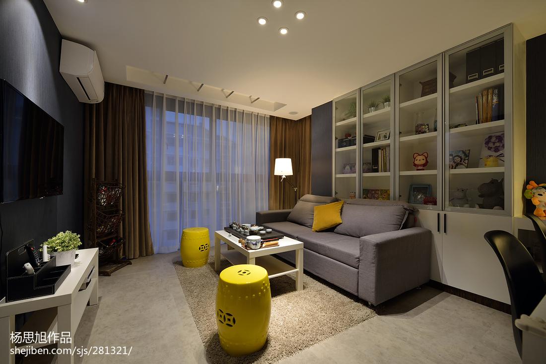 2018面积79平小户型客厅现代装修图