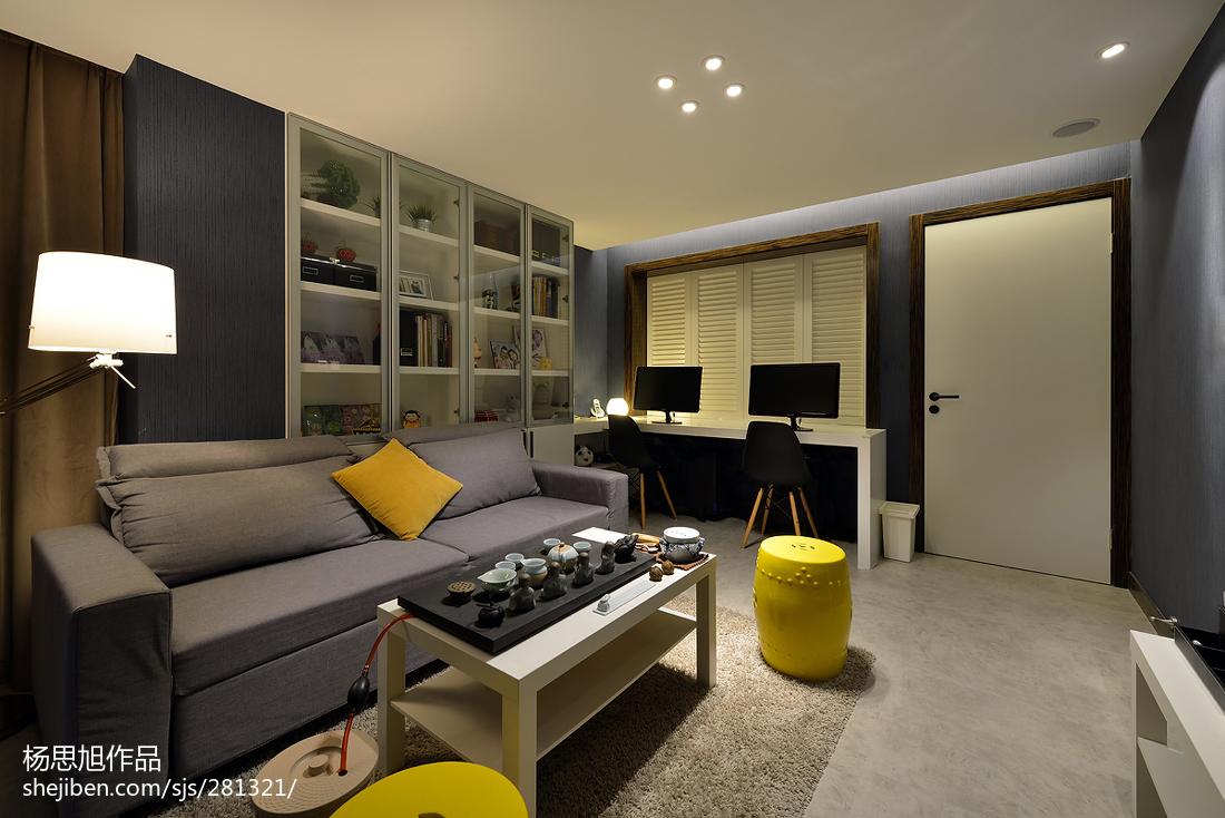 精选面积89平小户型客厅现代装修设计效果图