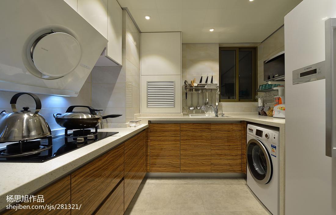2018面积71平小户型厨房现代装修设计效果图片