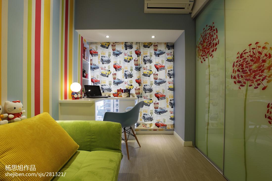 201890平米二居卧室现代装修设计效果图片大全
