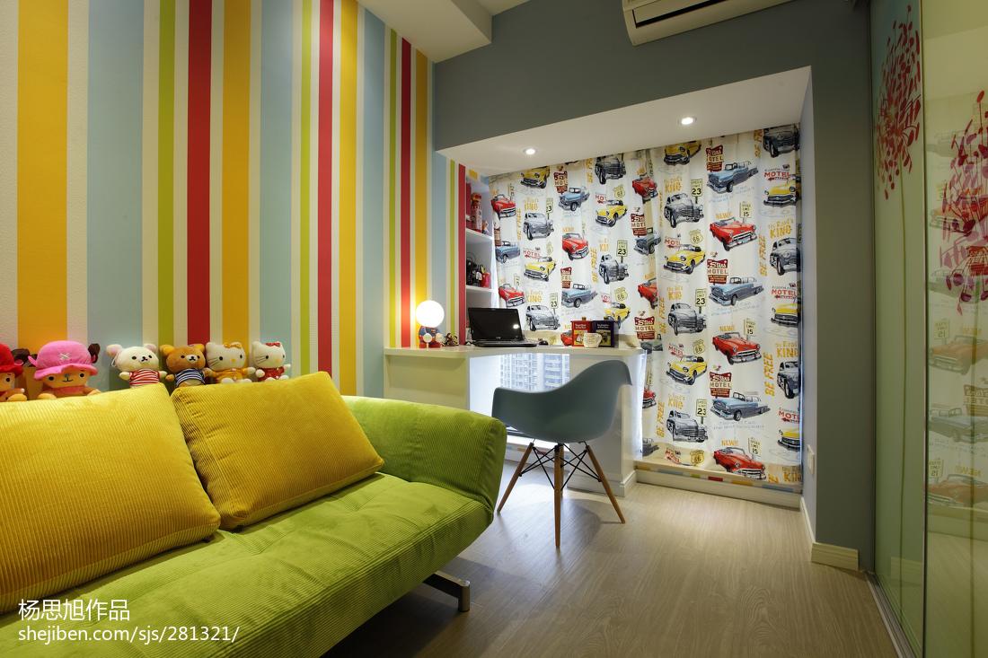 76平米二居卧室现代装修实景图片