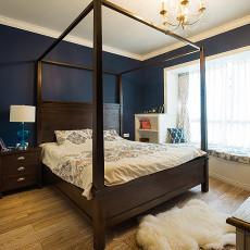 精美92平米三居卧室美式实景图片