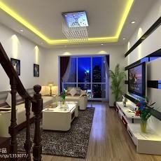 精选100平米三居客厅现代实景图片