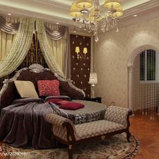 精选129平方欧式别墅卧室装修图