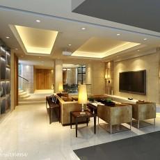 热门117平米现代复式客厅装修实景图