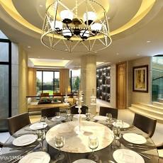热门面积143平复式餐厅现代装修设计效果图