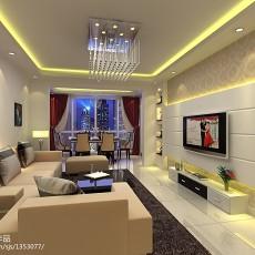 精选面积127平复式客厅现代实景图