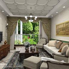 2018精选73平米二居客厅欧式装修设计效果图片