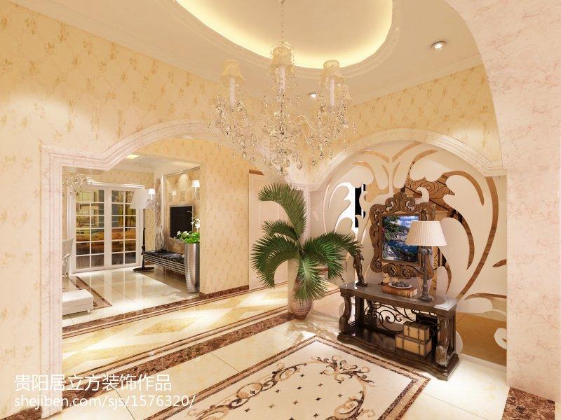 精选面积134平欧式四居客厅装修设计效果图片欣赏