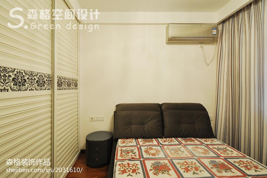 精选86平米二居卧室现代装修设计效果图片欣赏