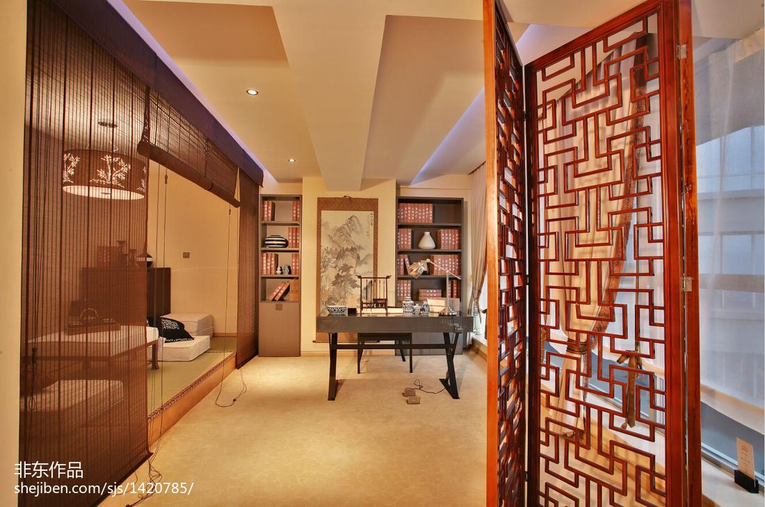 新中式样板房书房装修图