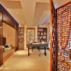 热门书房中式实景图