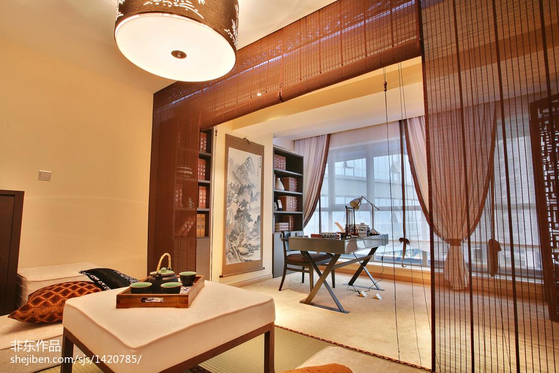 新中式样板房书房装修图片
