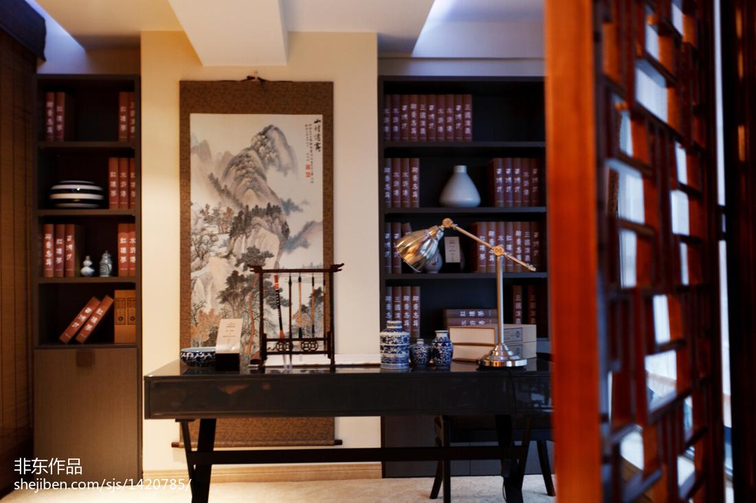 新中式样板房书房装修效果图