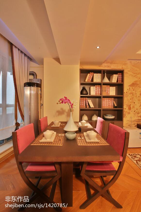 新中式样板房餐厅装修效果图欣赏