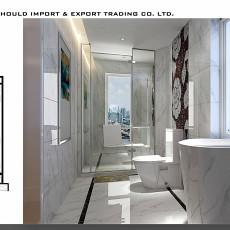 2018欧式三居卫生间装修设计效果图片