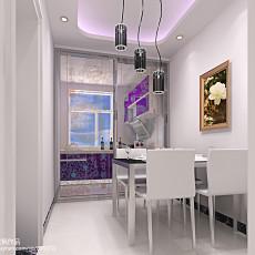 热门面积109平现代三居餐厅装修欣赏图