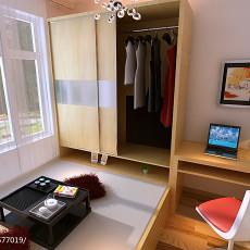 201876平米现代小户型卧室装修实景图