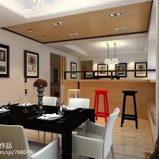 2018精选大小109平现代三居餐厅设计效果图