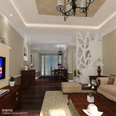 精美面积73平美式二居客厅装修图