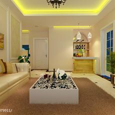 90平米二居客厅欧式装修效果图片欣赏