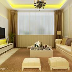 精美二居客厅欧式装修实景图片大全