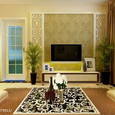 热门面积81平欧式二居客厅效果图片欣赏