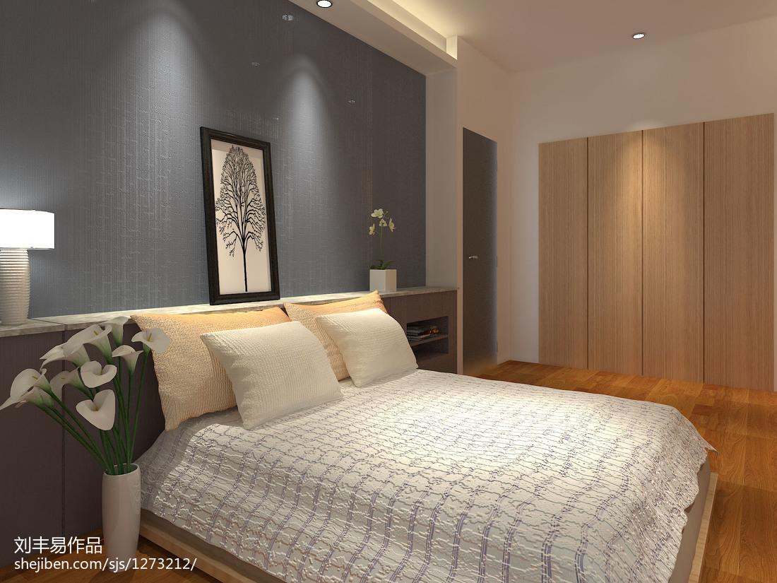 热门面积86平小户型卧室现代装修实景图片欣赏