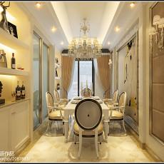 精选93平米三居餐厅欧式装修设计效果图片