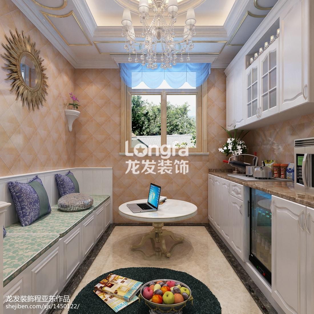 复式厨房欧式装饰图片欣赏