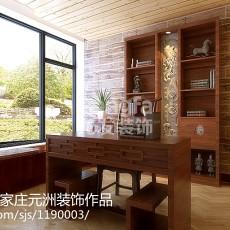 精选116平米四居书房中式装修设计效果图片欣赏