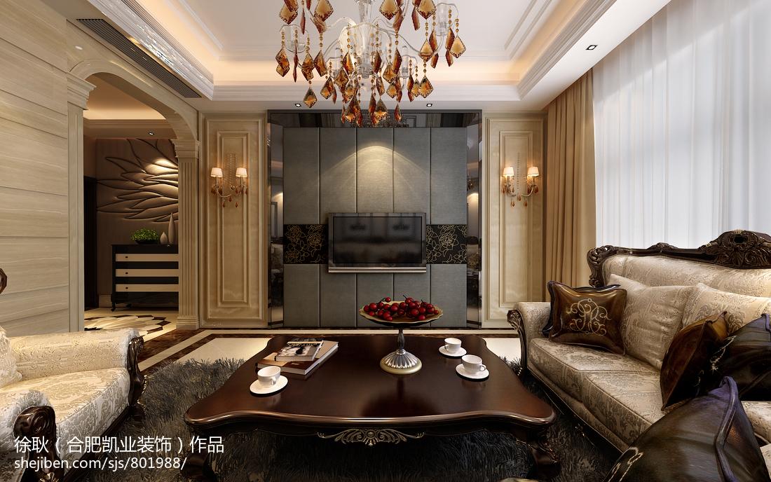 现代简约客厅电视背景墙装修效果图大全2013图片